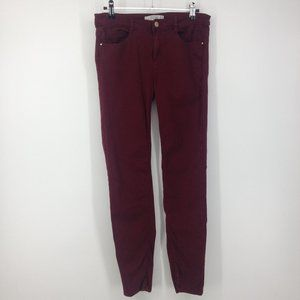 Zara Trafaluc Denim Collection Maroon Skinny Jeans